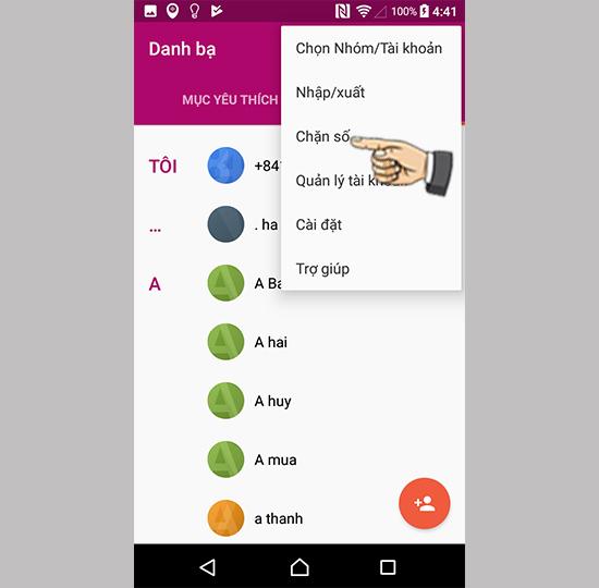 Cách chặn tin nhắn cuộc gọi trên Sony Xperia L1