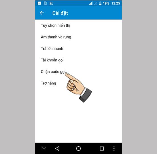 Bước 3: Chọn Chặn cuộc gọi