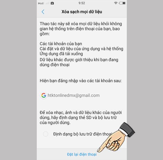 Khôi phục cài đặt gốc và hard reset Vivo - Thegioididong com