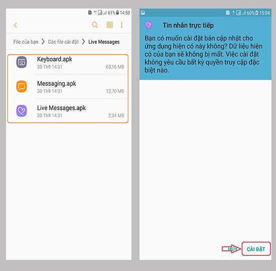 Mang tính năng Live Message lên máy Android 7 khác - Thegioididong com