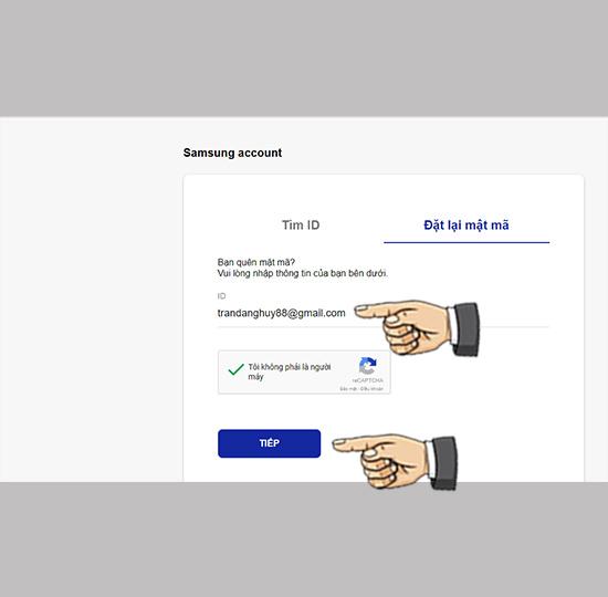 Cách lấy lại mật khẩu tài khoản Samsung Account - Thegioididong com