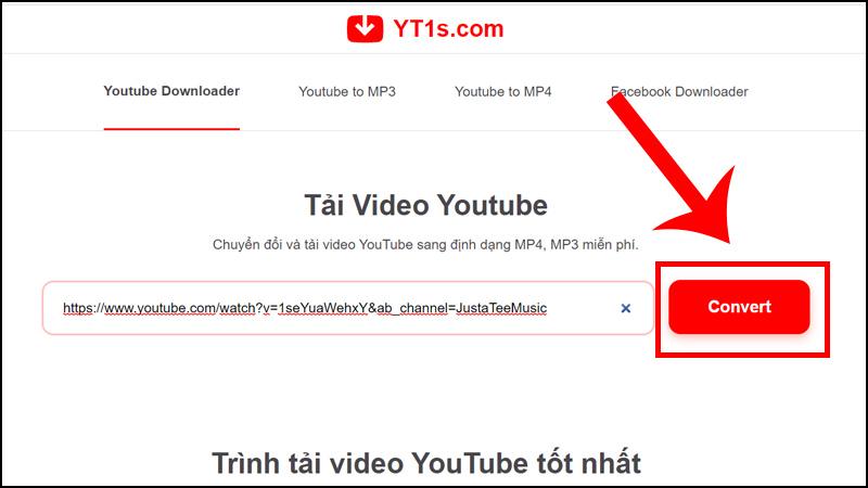 Tải video trên YouTube bằng YT1s online