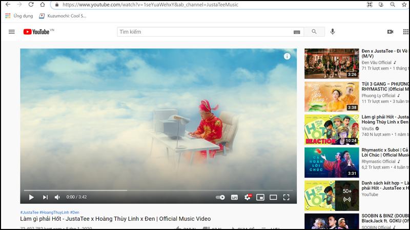 Tải video trên YouTube với SaveFrom