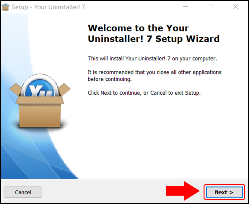 Cài đặt Your Uninstaller