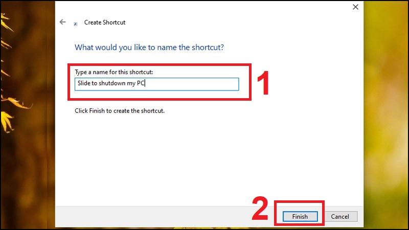 Bước 3: Đặt tên cho Shortcut