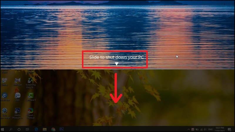 Bước 4: Màn hình desktop hiện ra Shortcut