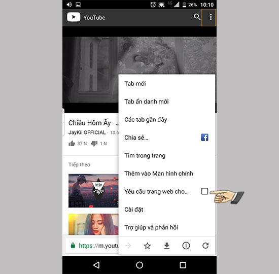 Nghe Youtube khi tắt màn hình trên Android bằng Google