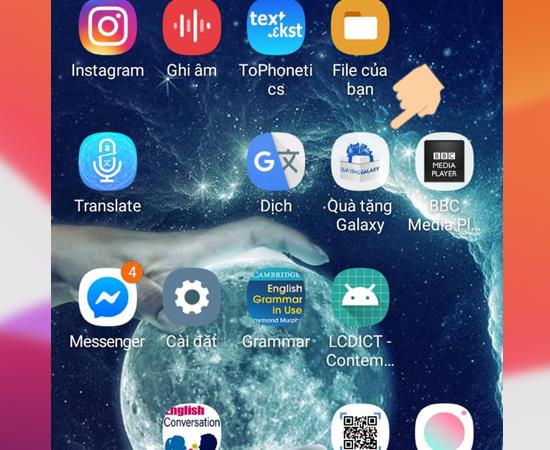 Bước 1: Đầu tiên bạn vào ứng dụng Quà tặng Galaxy.