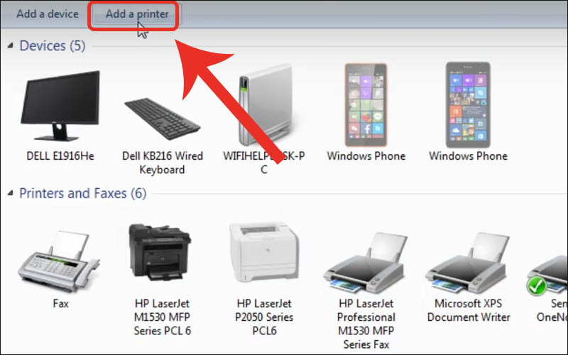 Chọn Add a printer