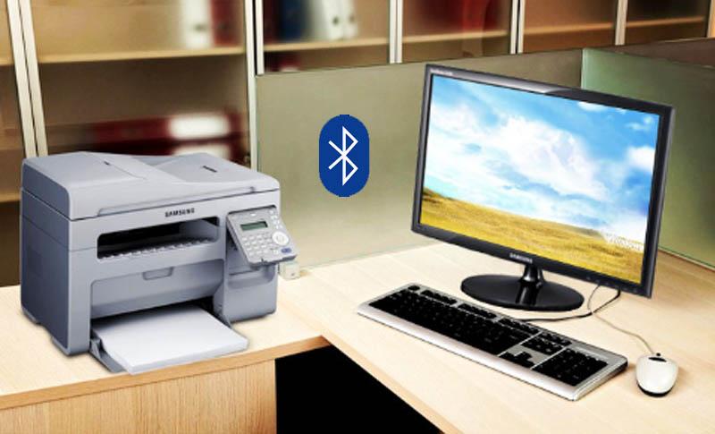 Kết nối máy in với máy tính thông qua WiFi hoặc Bluetooth