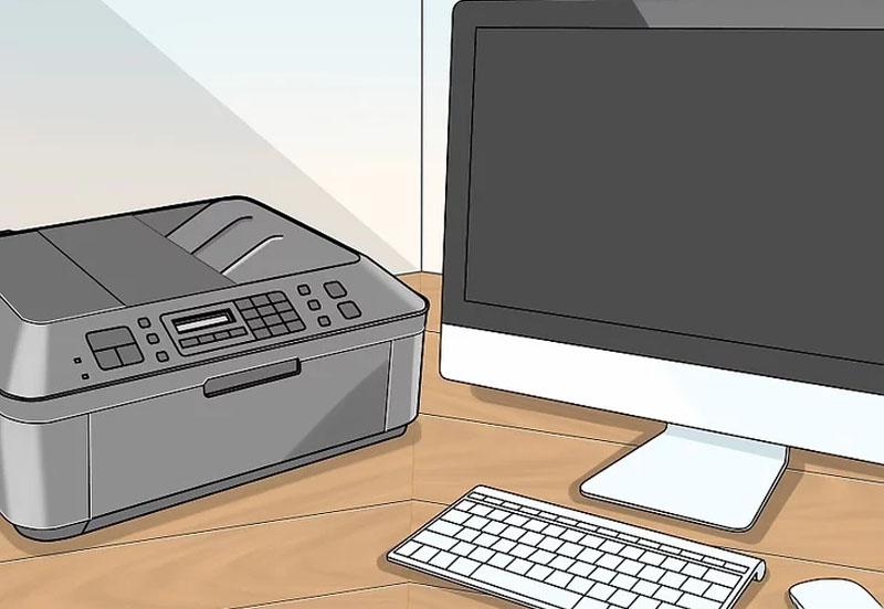 Bước 1: Đặt máy in gần máy tính. Đảm bảo khoảng cách đủ gần để dây cáp được gắn vào máy tính mà không bị căng.