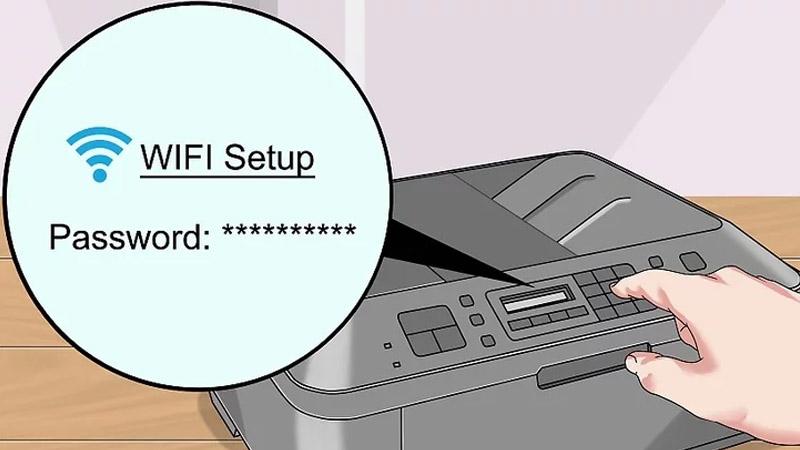 Bước 1: Chuẩn bị kết nối máy in theo cách sau