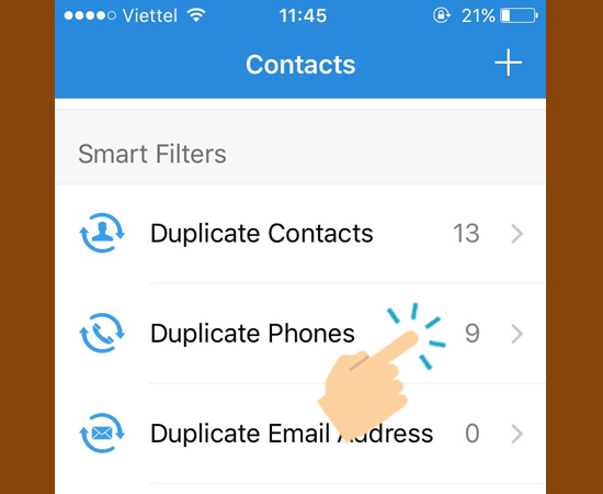 vào  Duplicate phones