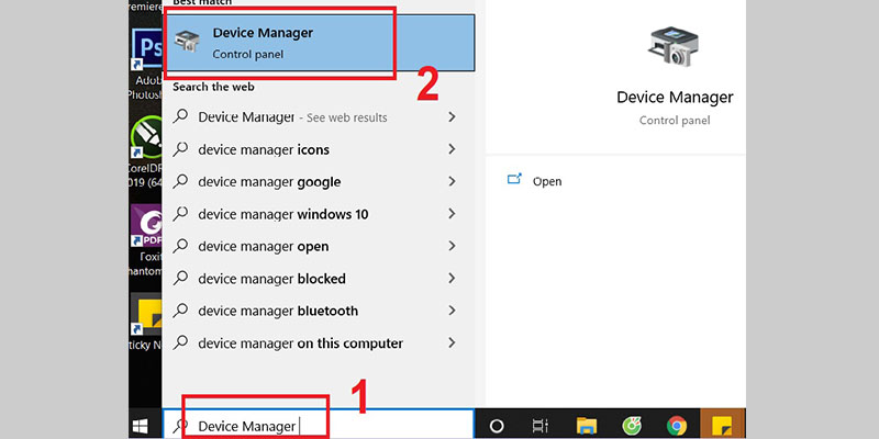 Mở Device Manager