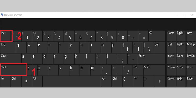 Mở khóa bàn phím bằng tổ hợp phím