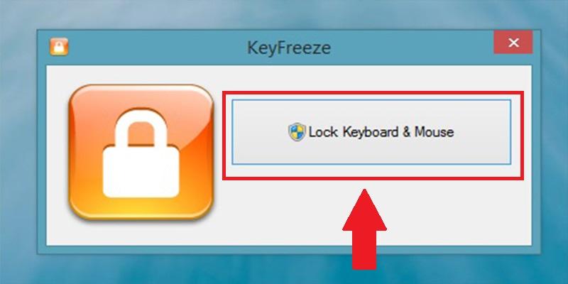 Click chọn Lock Keyboard & Mouse