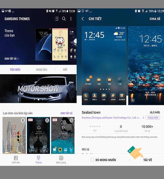 Cài đặt theme trên Samsung - Thegioididong com