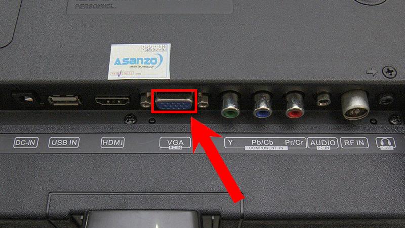 Cổng kết nối VGA trên tivi
