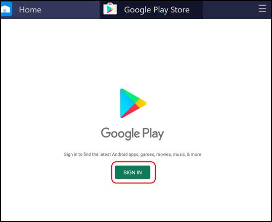 Đăng nhập tài khoản Google Play