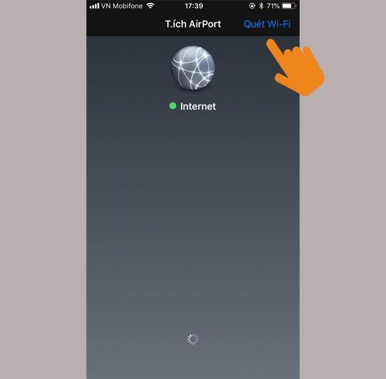 Mở ứng dụng chọn quét wifi