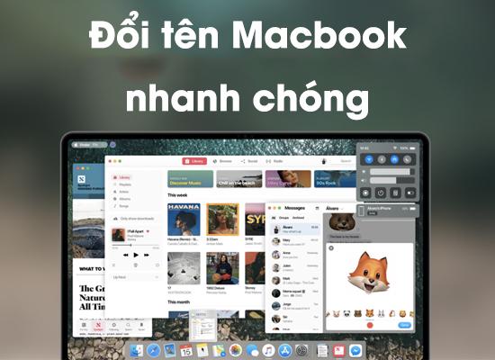 Hướng dẫn đổi tên cho máy Macbook