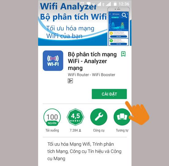 Tìm và tải về ứng dụng phân tích wifi
