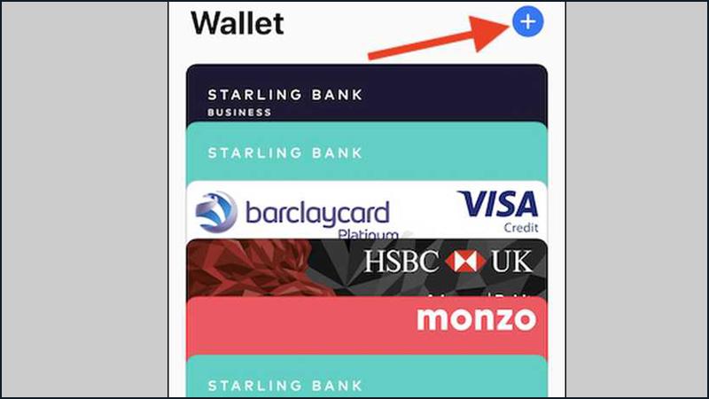 Ấn nút cộng để thêm thẻ ngân hàng của bạn