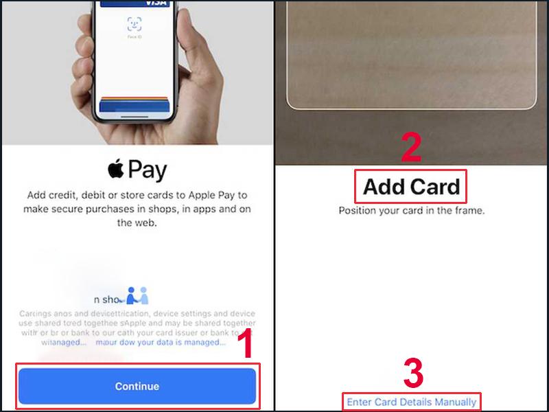 Thêm thẻ bằng cách quét thẻ hoặc nhập thông tin thẻ thủ công