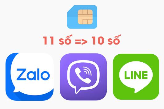 Cách cập nhật danh bạ 11 số về 10 số cho Zalo, Line, Viber