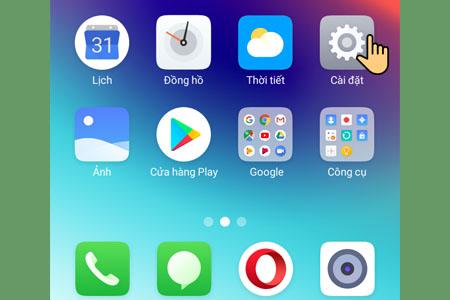 Khôi phục cài đặt gốc trên điện thoại Realme C1