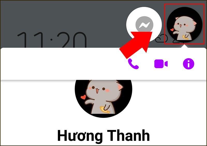 Bong bóng chat của cuộc trò chuyện Messenger hiện lên