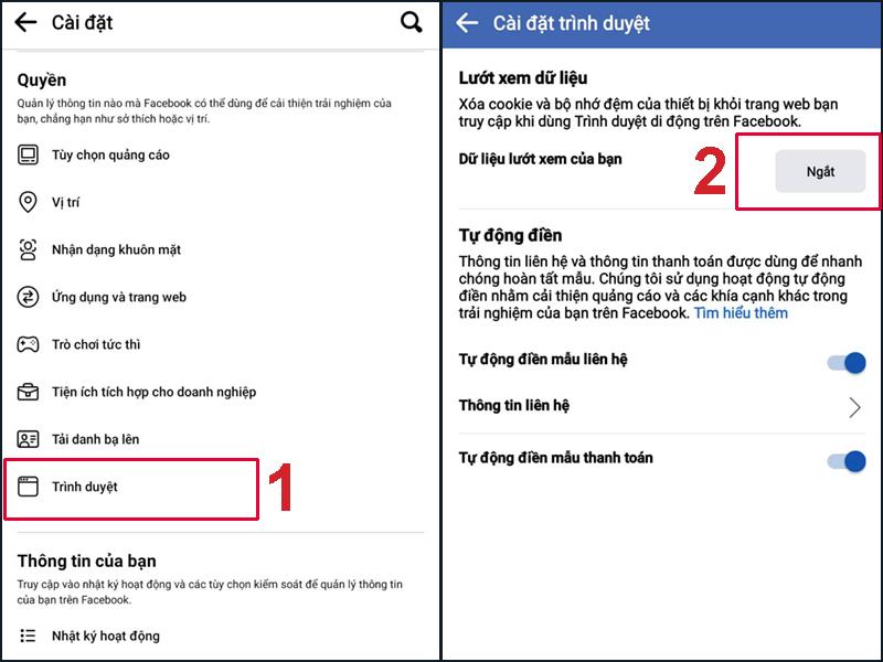 Ấn Ngắt để xóa bộ nhớ cache Facebook khỏi iPhone của bạn