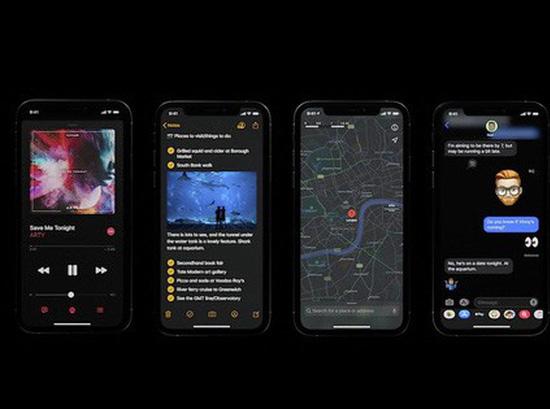 Chế độ Dark mode đẹp mắt trên iOS 13