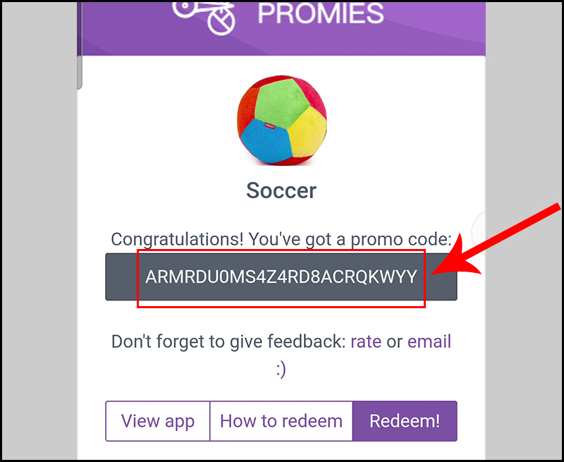 Sao chép và lưu lại mã quà tặng Google Play