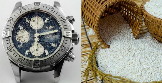 Đặt đồng hồ vô thùng gạo