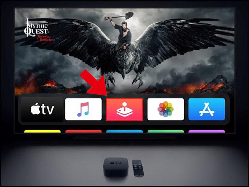 Chọn vào biểu tượng Apple Arcade có sẵn trên màn hình Apple TV