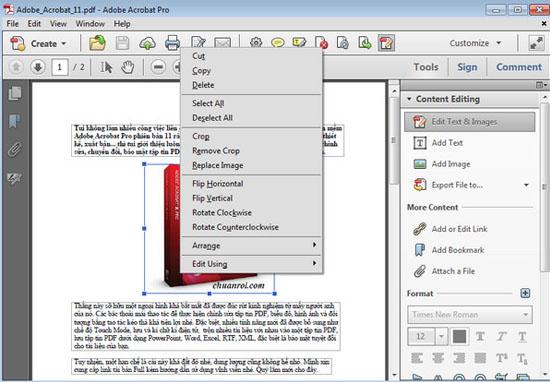 Chỉnh sửa tài liệu bằng Adobe Acrobat