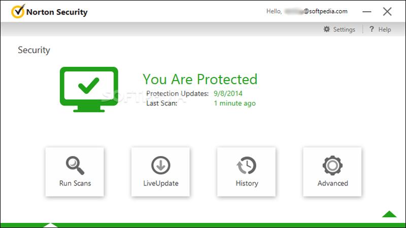 Giao diện phần mềm Norton AntiVirus