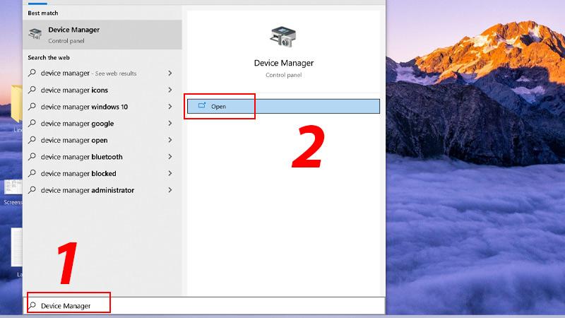 Cách mở Device Manager