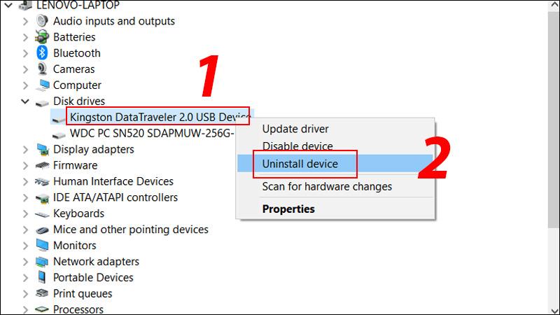Gỡ Driver USB