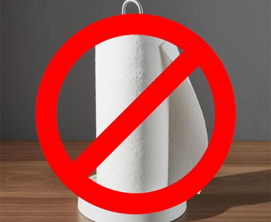 Không dùng khăn giấy để lau màn hình