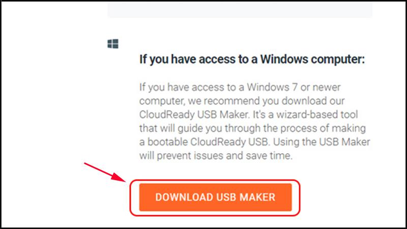 Chọn Download USB Maker