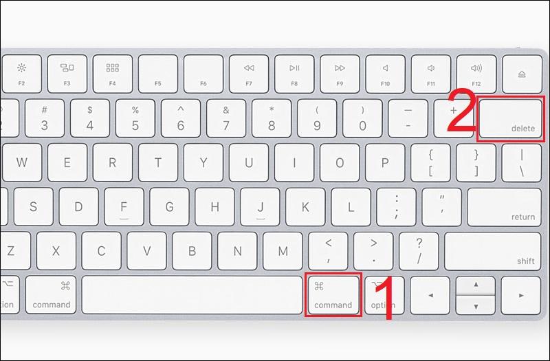 Nhấn tổ hợp phím cmd + delete sau khi chọn file