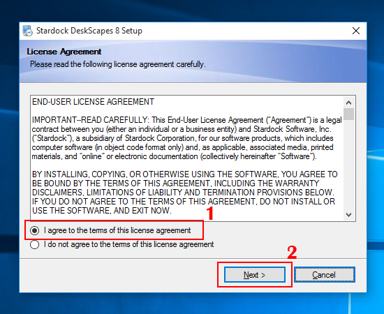 Bạn hãy chọn I agree to terms of this license agreement và chọn Next.