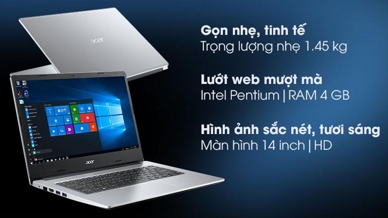 Đặc điểm nổi bật của laptop Acer Aspire 3 A314 35 P6JF