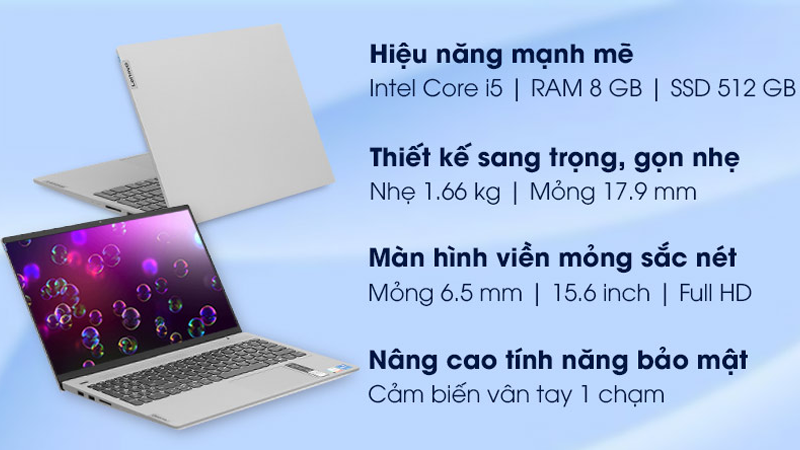 Đặc điểm nổi bật của laptop Lenovo IdeaPad Slim 5 15ITL05 i5