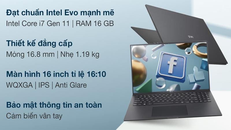 Đặc điểm nổi bật của laptop LG Gram 16 2021 i7