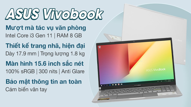Đặc điểm nổi bật của laptop Asus VivoBook A515EA i3