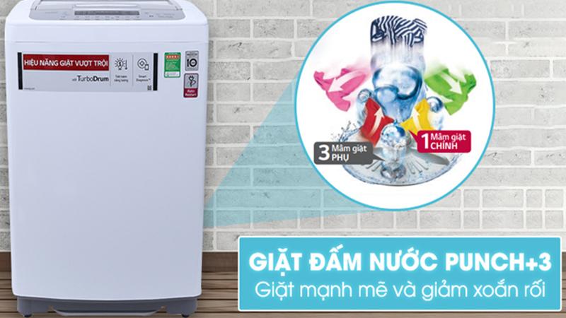 Công nghệ đấm nước và 3 mâm giặt phụ Punch+3 trên máy giặt LG là gì?