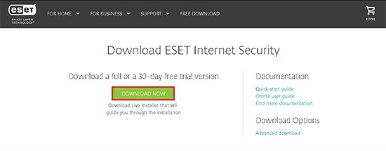 Hướng dẫn cài đặt và kích hoạt phần mềm diệt virus ESET